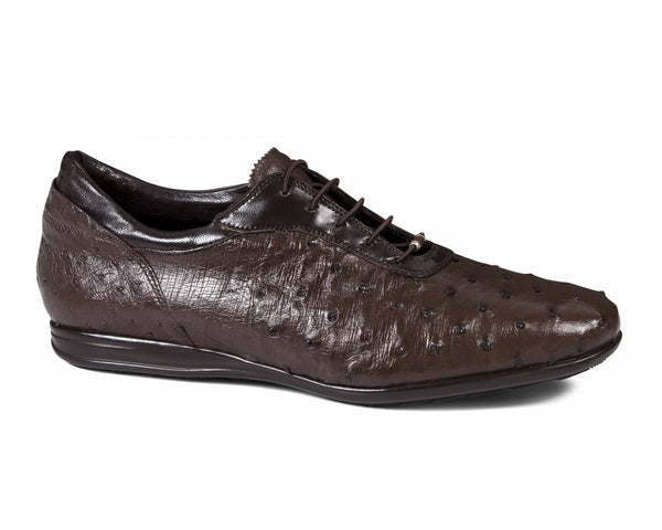 Mauri - 9295 Ostrich Quill Sneakers Brown