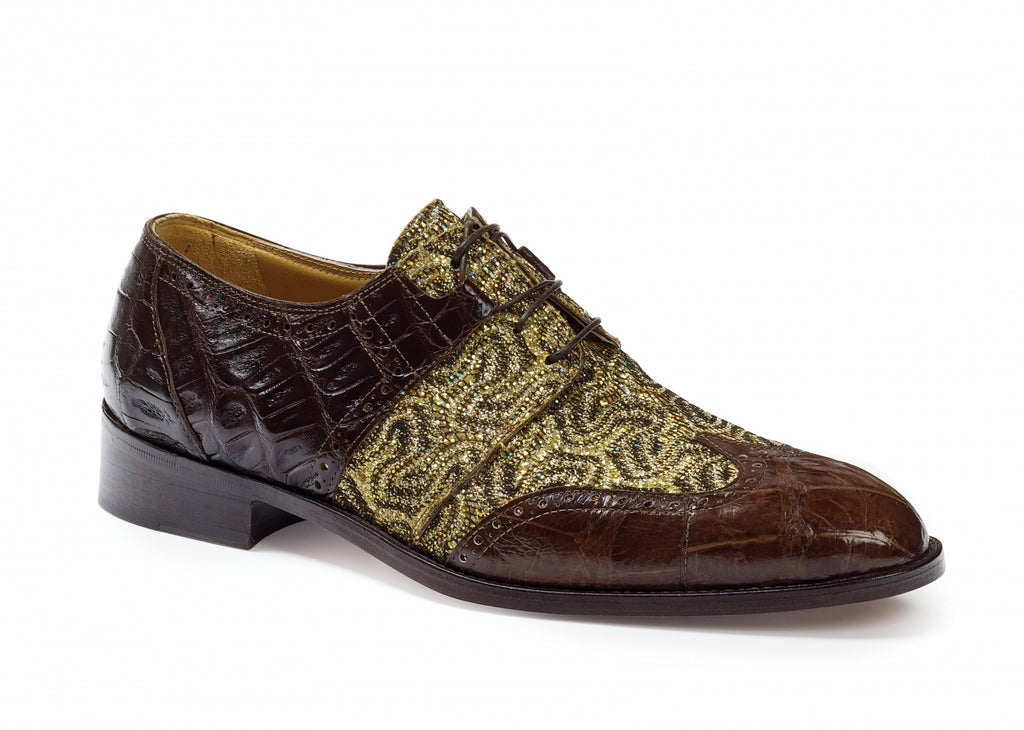 Mauri - 53124 Caracalla Crocodile & Alligator Wingtip Sport Rust - Dudes Boutique