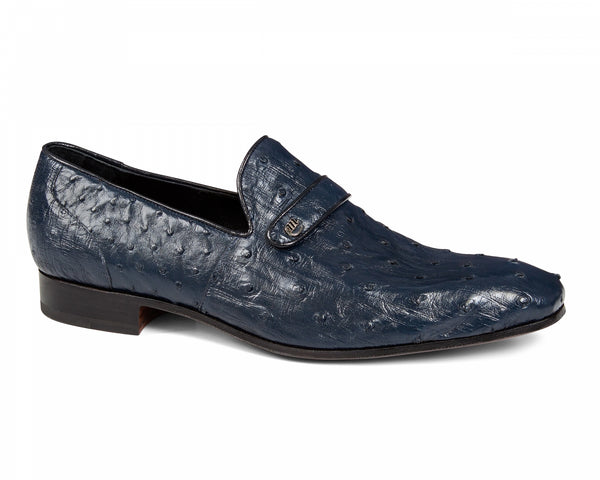 Mauri - 4753/1 Wonder Blue Ostrich Loafer