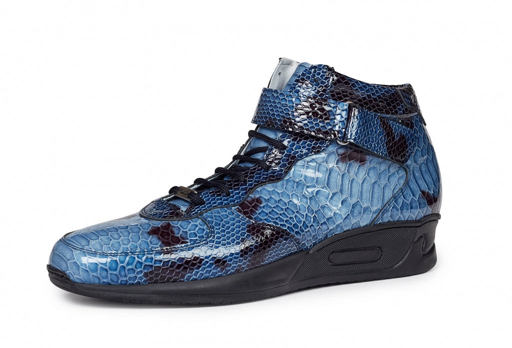 Mauri - M764 Patent Leather Malabo Blue Sneakers - Dudes Boutique