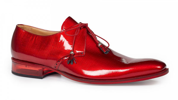 Mauri - 4801 Red Patent Leather & Plexiglass Heel Dress Shoes