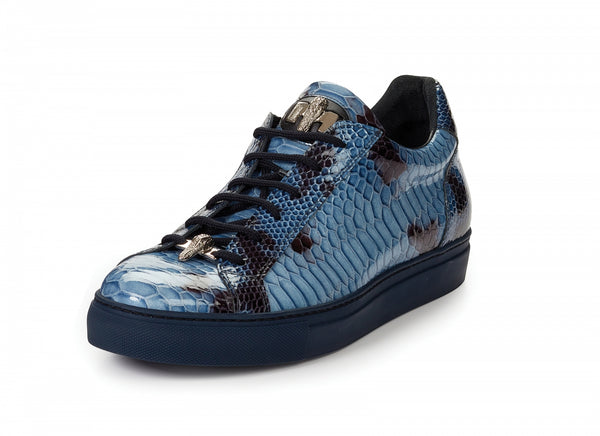 Mauri - 8825 Patent Leather Python Sneakers