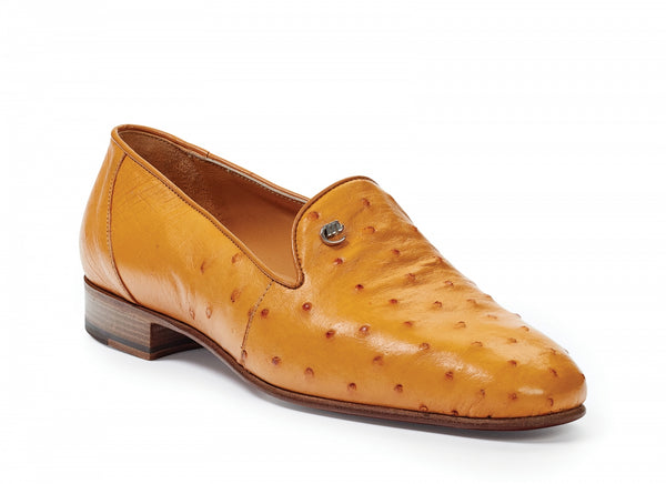 Mauri - 4516/5 Traversi Ostrich Loafers Buttercup - Dudes Boutique
