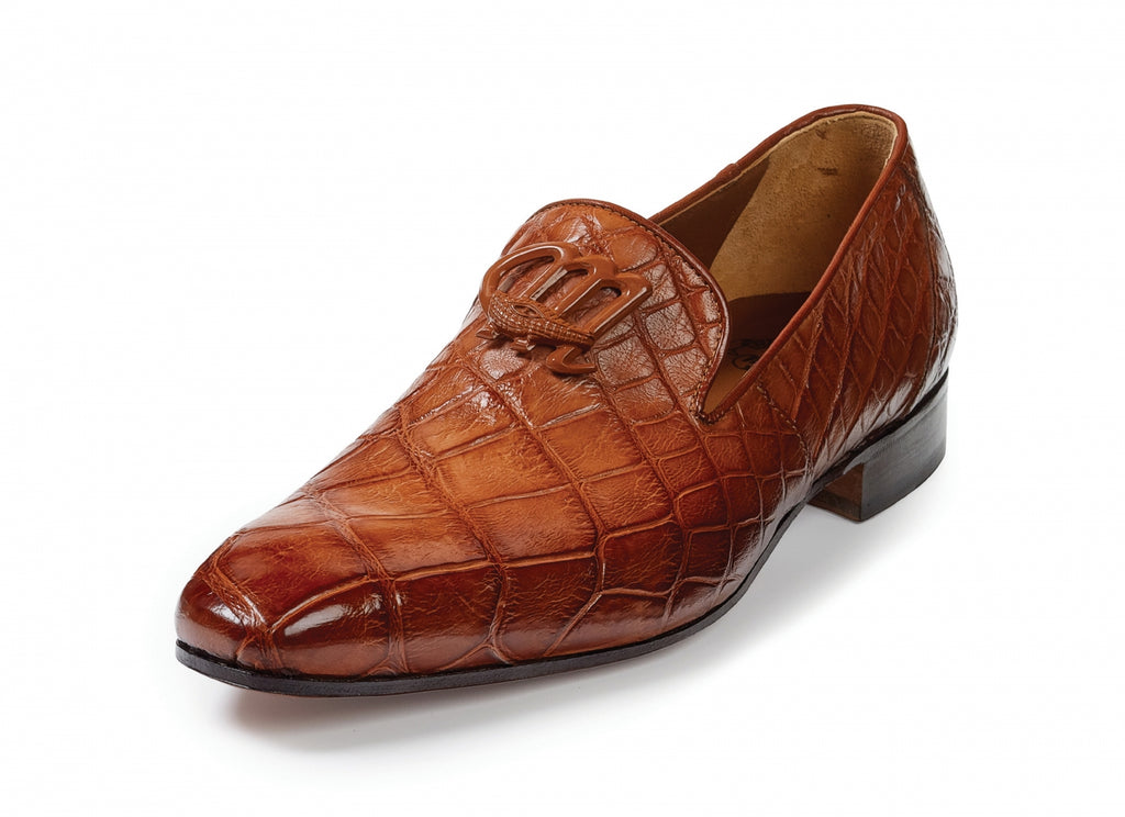 Mauri - 4821 Vanvitelli Alligator Loafers Gold - Dudes Boutique