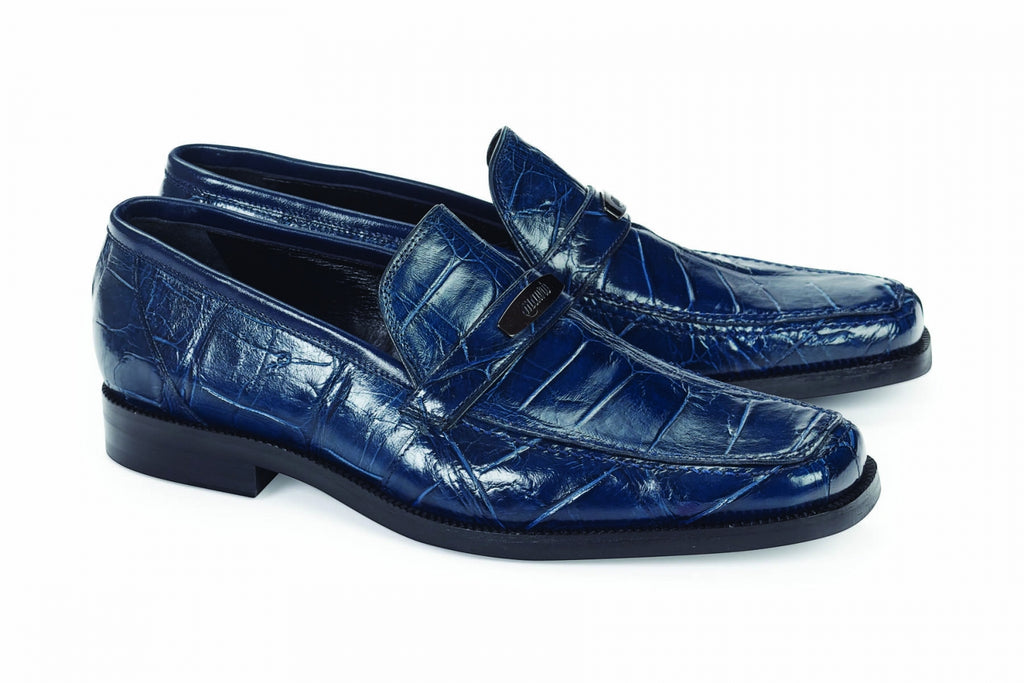 Mauri - 4692 Wonder Blue Alligator Body Loafer - Dudes Boutique