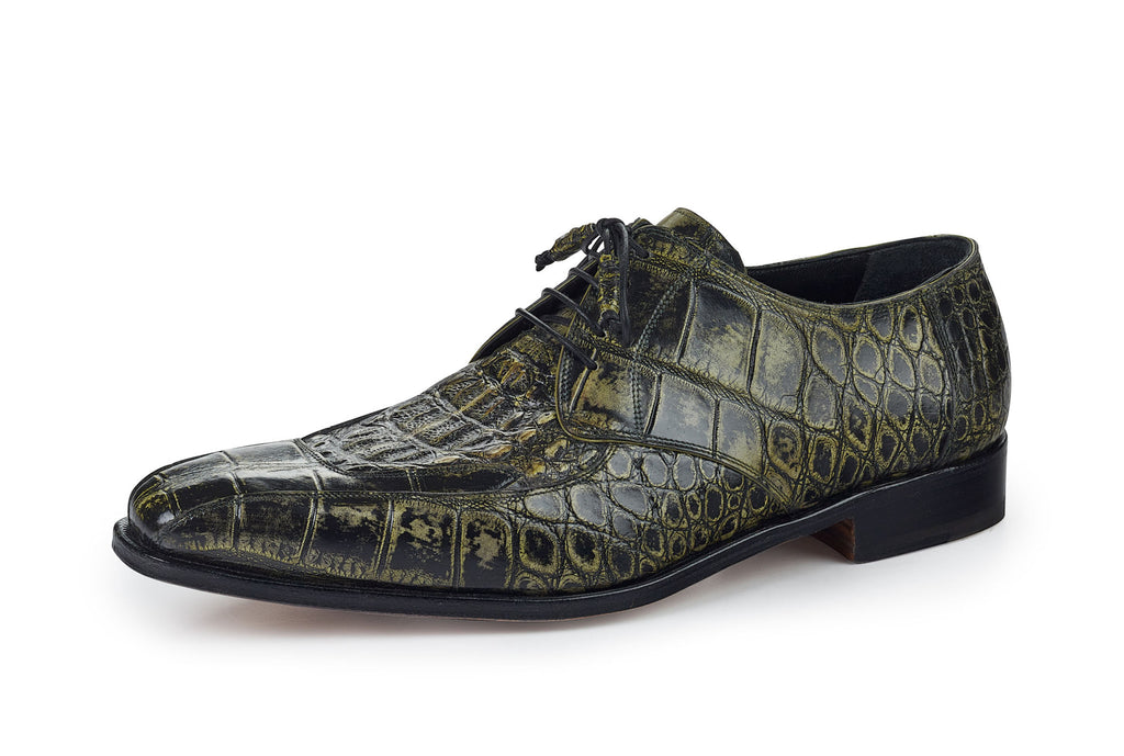 "Mauri - ""1022"" Hand Painted Alligator/Hornback Dress Shoe - Dudes Boutique"