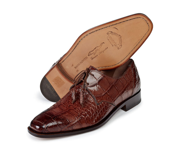 "Mauri - ""1029"" Alligator Hand-Painted Burnished Dress Shoe - Dudes Boutique"