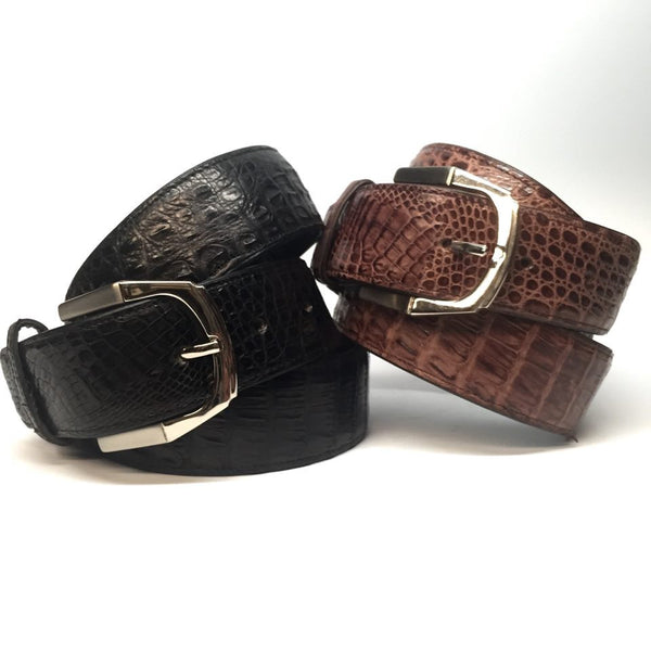 Lebedas Full Skin Crocodile Belt - Dudes Boutique - 1