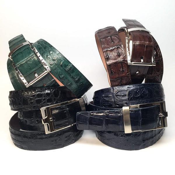 Safari Exotic Skin Alligator Belt - Dudes Boutique - 1