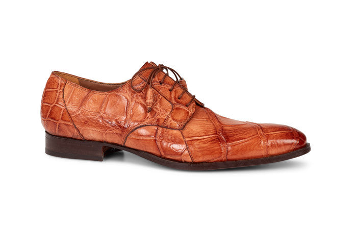"Mauri - 1059 ""Durini"" Cognac Hand Painted Alligator Loafer - Dudes Boutique"