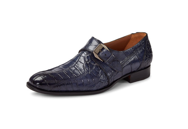 "Mauri - 1090 ""Manzoni"" Charcoal Hand-Painted Alligator Loafer"