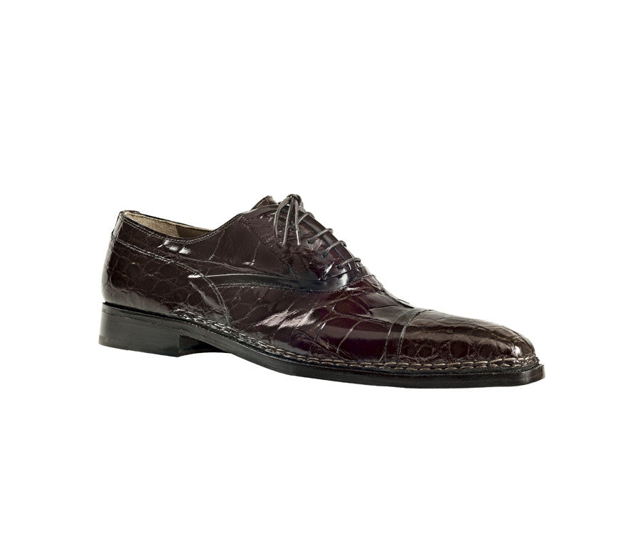 "Mauri - ""1139 Connoisseur"" All Over Crocodile Oxford Lace Up - Dudes Boutique"