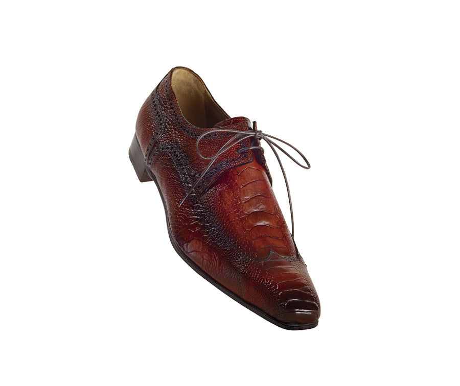 "Mauri - ""1143 Bon Vivant"" All Over Ostrich Leg Lace Up - Dudes Boutique"