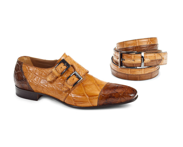 Mauri - 1152 Alligator Body Hand Painted Oxford Dress Shoes