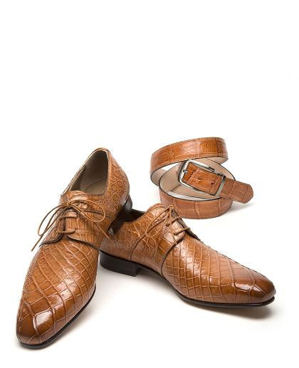 "Mauri - ""1162 Castello"" All Over Alligator Dress Shoes - Dudes Boutique"