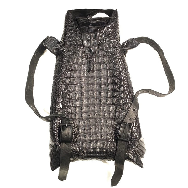 Kashani Jet Black All-Over Alligator Backpack - Dudes Boutique