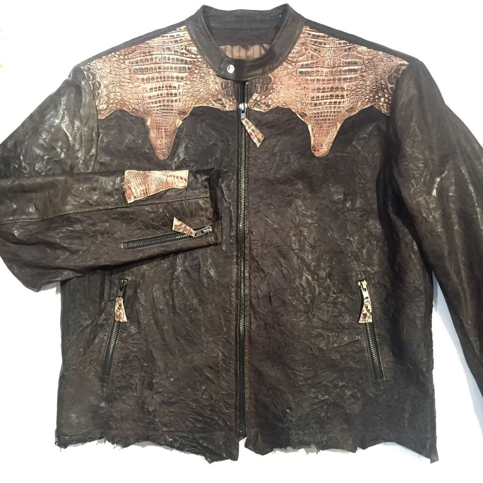 G-Gator Lambskin/Crocodile Custom-Made Jacket - Dudes Boutique - 1
