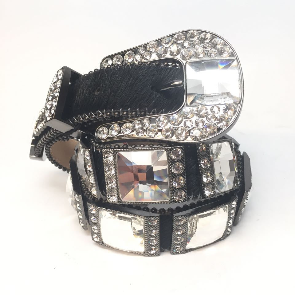 B.B. Simon 9000 Mini Monster Swarovski Belt - Dudes Boutique