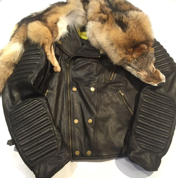 "G-Gator ""Coyote"" Moto Jacket w/ Full Coyote Shoulderpiece - Dudes Boutique"