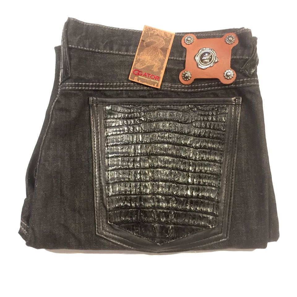 G-Gator Jeans w/ Alligator Pockets - Dudes Boutique - 1