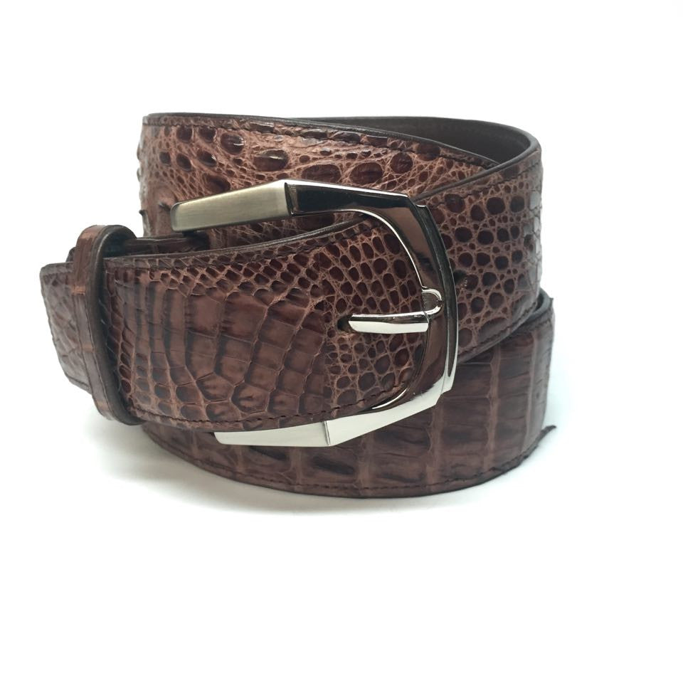 Lebedas Full Skin Crocodile Belt - Dudes Boutique - 3