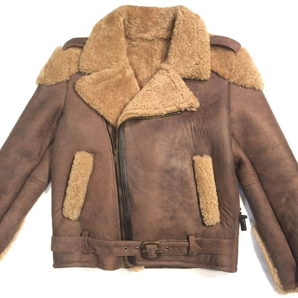 Jakewood Tobacco Biker Shearling - Dudes Boutique - 1