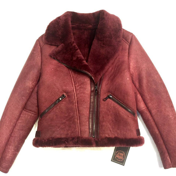 Jakewood Wine Biker Shearling - Dudes Boutique - 1