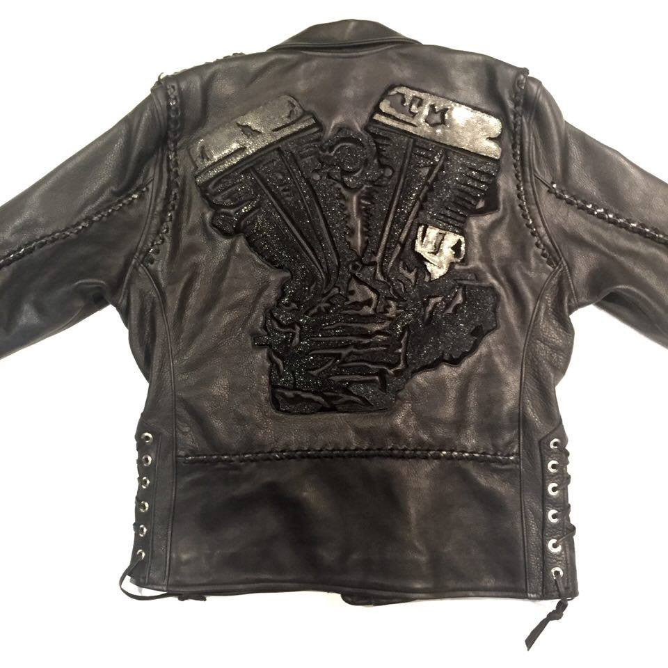 Dark 8 'Engine' Stingray Motorcycle Jacket - Dudes Boutique