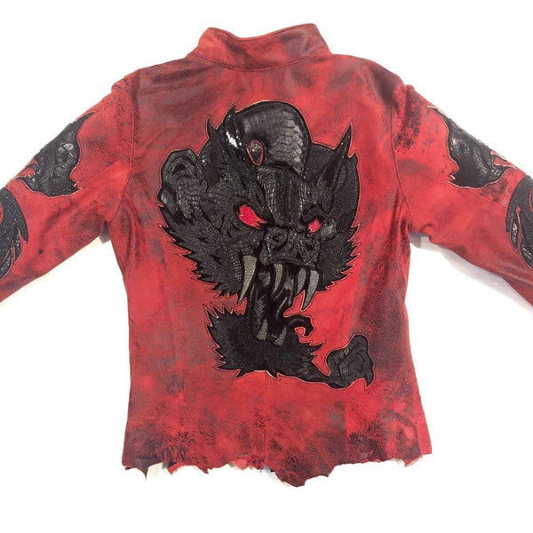 Dark 8 'Monster' Red Python & Stingray Jacket - Dudes Boutique