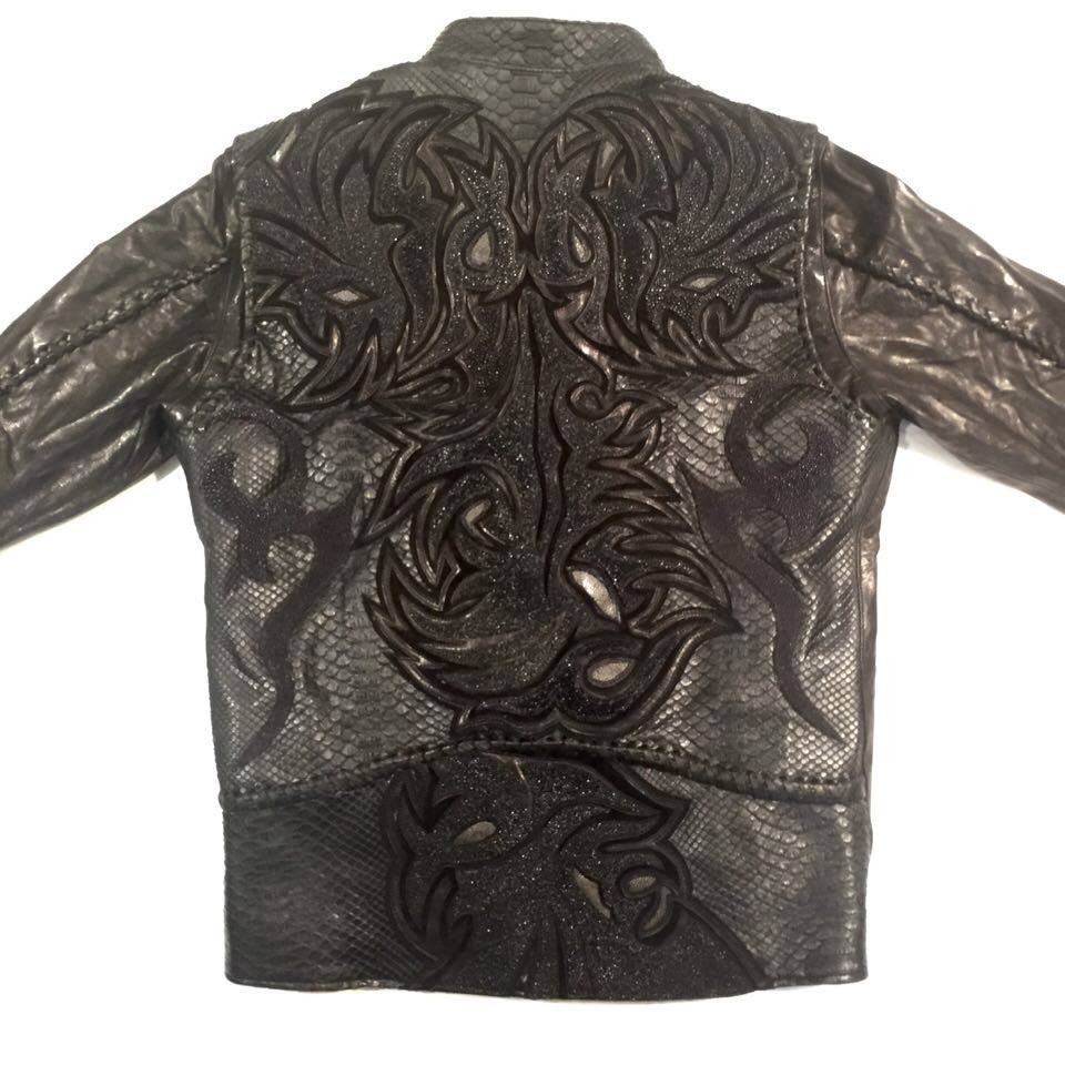 Dark 8 'Dragon' Python & Stingray Jacket - Dudes Boutique
