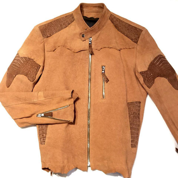 G-Gator Dune Alligator/Jungle Suede Rough Cut Jacket