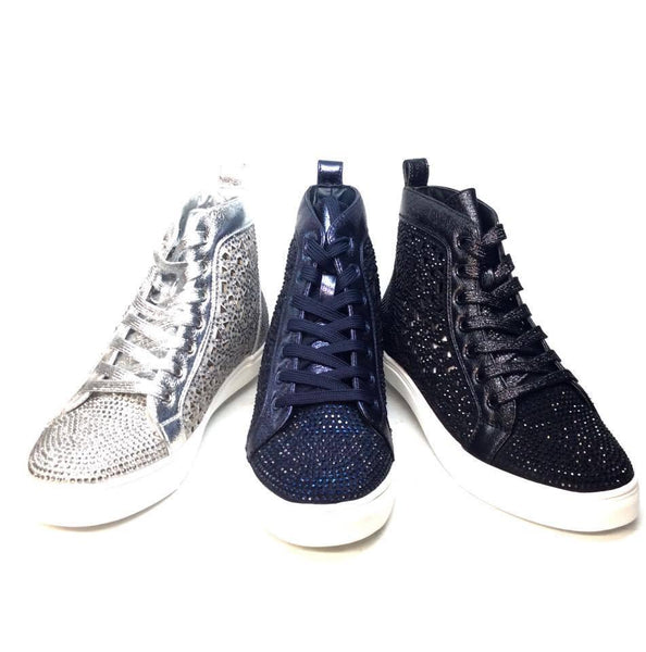 Lady Couture 'New York' Fully Loaded Crystal Sneakers - Dudes Boutique