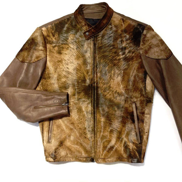 G-Gator Natural Pony Hair/Lamb Skin Racer Jacket
