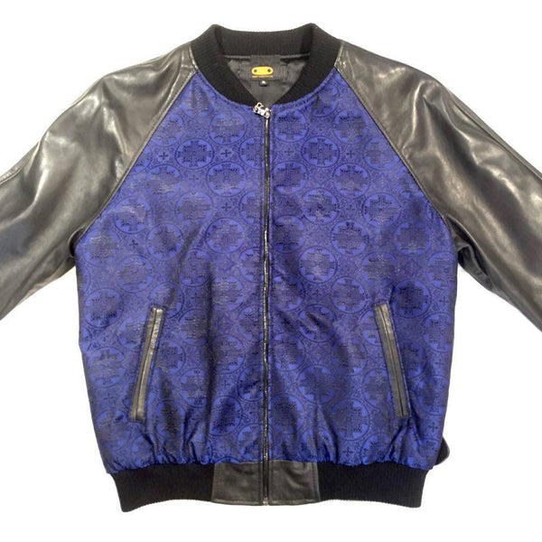 G-Gator Navy 'Hierarchy' Lamb Skin Bomber Jacket - Dudes Boutique
