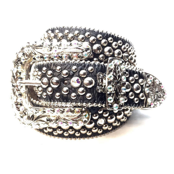B.B. Simon Iridescent Swarovski Crystal Belt - Dudes Boutique