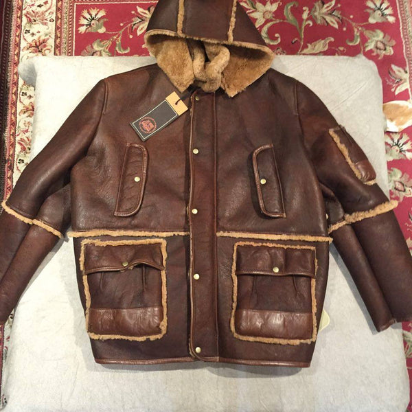 Jakewood Tobacco Brown Shearling Coat