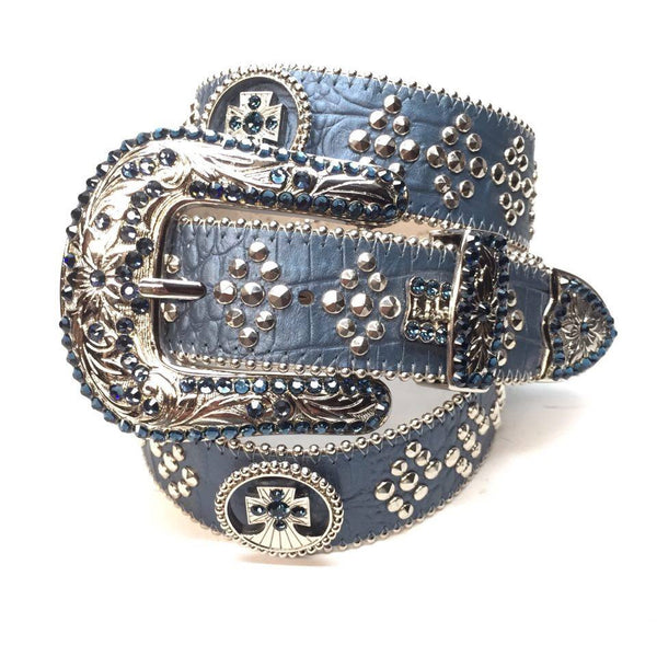 B.B. Simon Ocean Crossing Swarovski Crystal Belt - Dudes Boutique