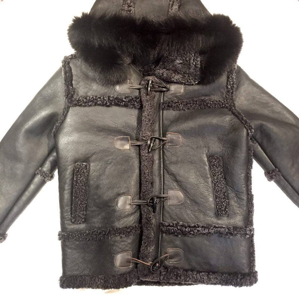 Jakewood Black Duffle Mink Shearling Coat