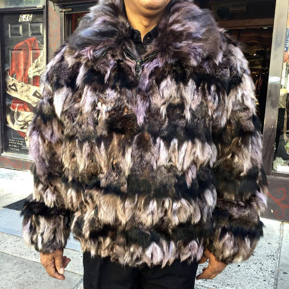 Winter Fur Men's Bomber Fox Fur Coat