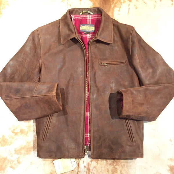 Schott NYC P673 Tobacco 'Perfecto' Strong Cowhide Jacket