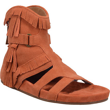 Dingo Rust Sunny Day Women's Suede Sandals - Dudes Boutique