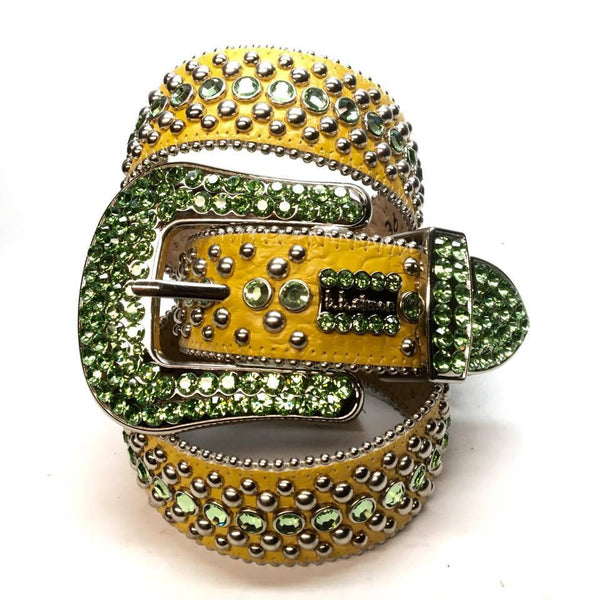 "B.B. Simon ""Lime & Lemon"" Swarovski Crystal Belt"