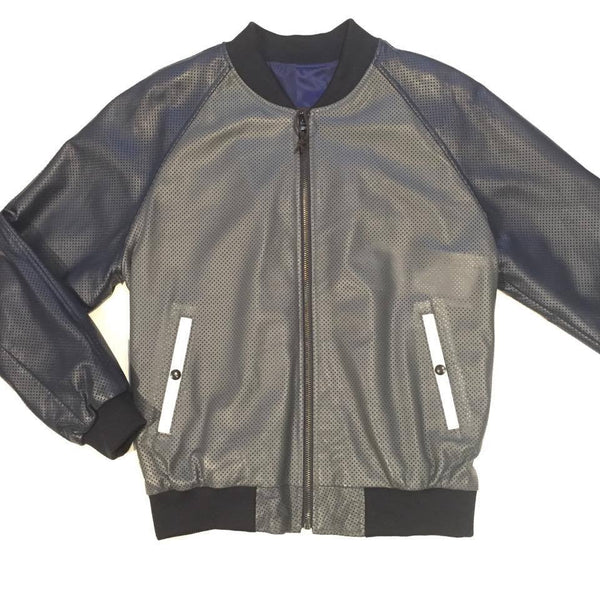 G-Gator Lambskin Varsity Perforated Jacket
