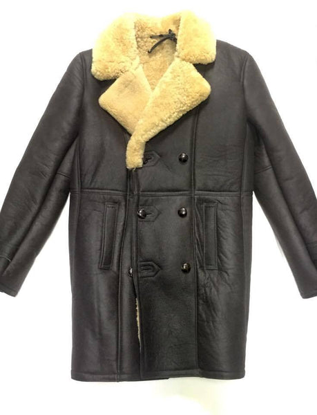 Jakewood - 4400 Sheepskin 3 Button Shearling Trench Coat - Dudes Boutique