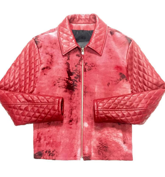 G-Gator Quilted Pony Hair Bomber Jacket