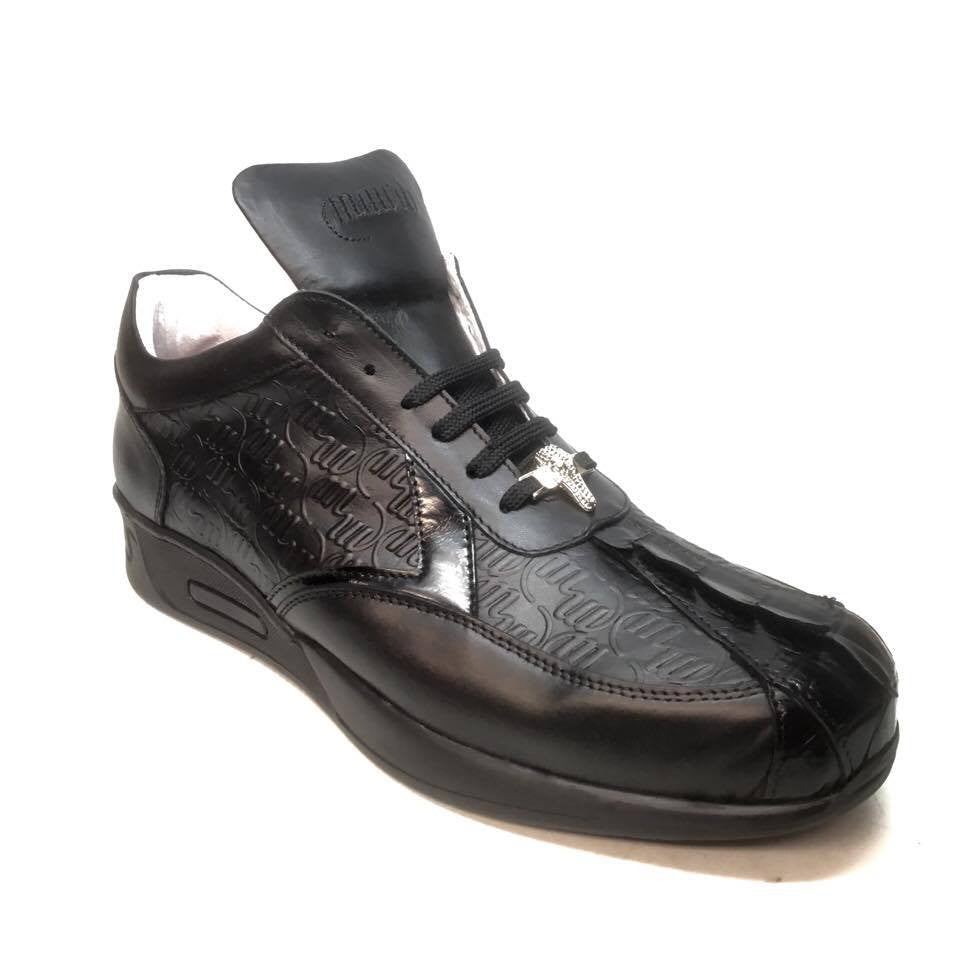 Mauri M770/1 Black Crocodile Tail Sneakers