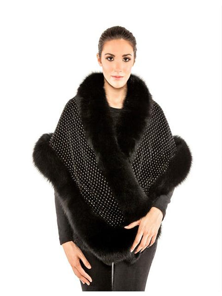 Volare Fox cape with Swarovski crystals