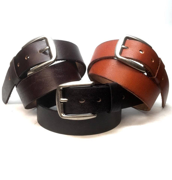 Dudes PA-10 Men`s 100% Leather Grain Belt