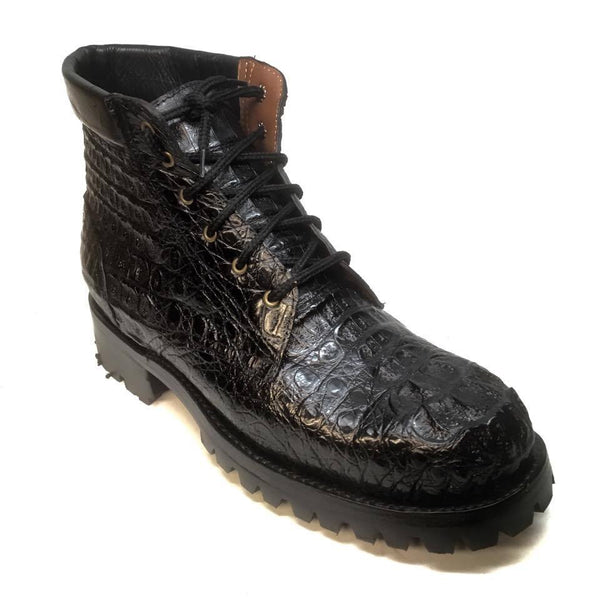 Safari Exotic Men's All-Over Crocodile Hornback Boots