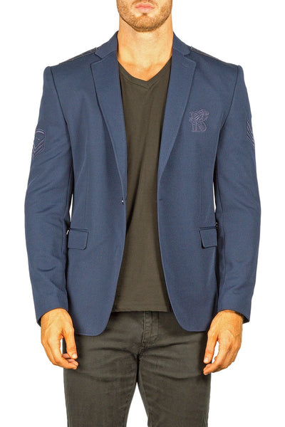 Bespoke Men's Embroidered Patch Sport Coat Blazer - Dudes Boutique